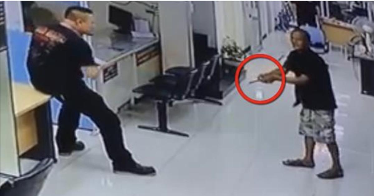 Polise Bıçak Çekti - Polis Bakın Ne Yaptı