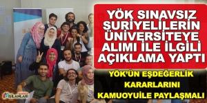 YÖK Eşdeğerlik ve Sınavsız Üniversite Açıklaması Kaynak: YÖK Eşdeğerlik ve Sınavsız Üniversite Açıklaması