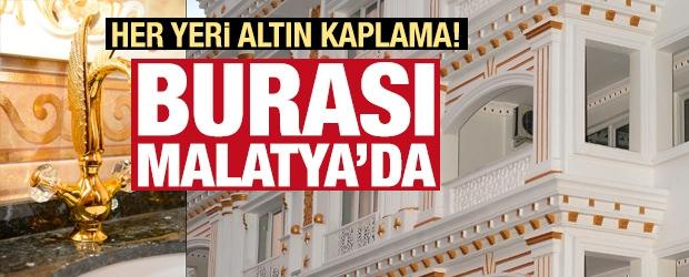 Malatya'daki Altın Kaplı Bina Görenleri Hayrete Düşürüyor