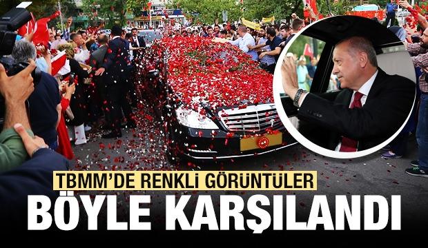 Cumhurbaşkanı Erdoğan'ı Böyle Karşıladılar
