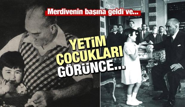 Atatürk'ün Çocuk Sevgisi...