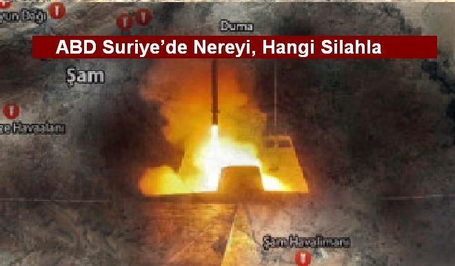 ABD Suriye'de Nereyi, Hangi Silahla Vurdu