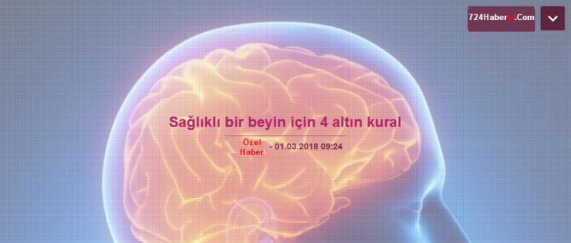 Sağlıklı Bir Beyin İçin 4 Altın Kural!