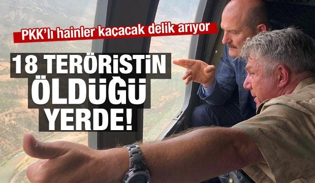 Bakan Soylu 18 Teröristin Öldürüldüğü Bölgeye Gitti