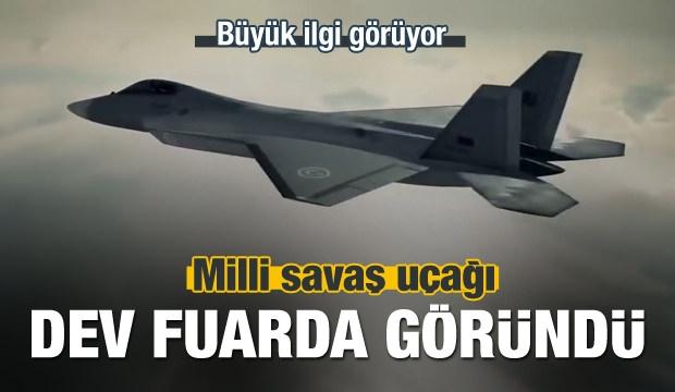 Milli Savaş Uçağı Dev Fuarda Göründü!
