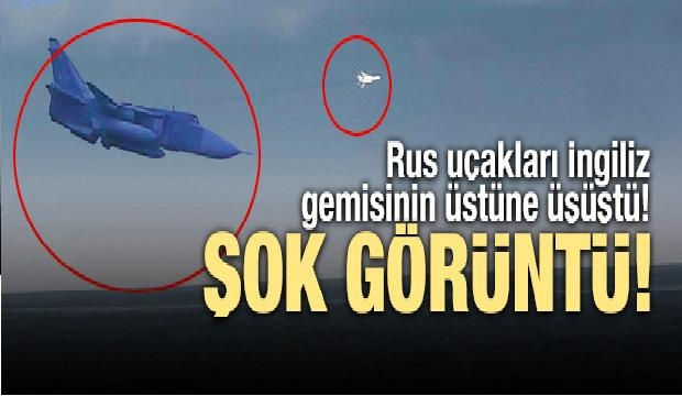 Rus Uçakları İngiliz Gemisinin Üstüne Üşüştü!