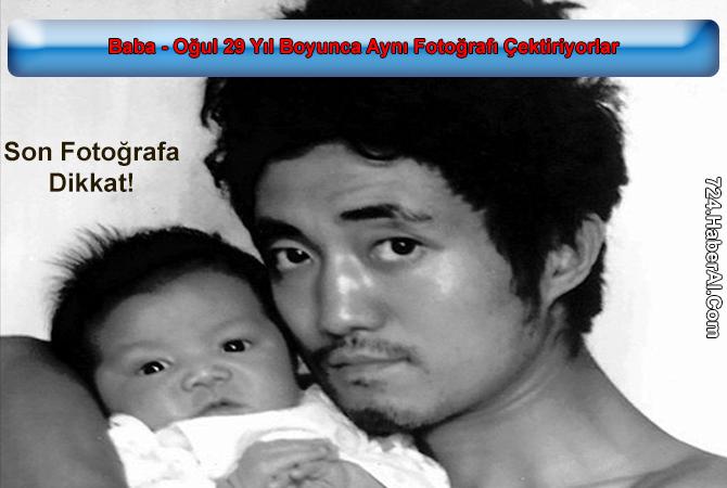 Baba - Oğul 29 Yıl Boyunca Aynı Fotoğrafı Çektiriyorlar - Son Fotoğrafa Dikkat!
