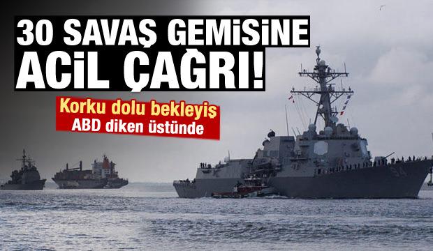 ABD alarmda! Savaş gemilerine acil çağrı
