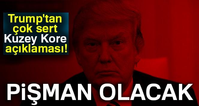 ABD Başkanı Trump'tan Çok Sert Kuzey Kore Açıklaması!