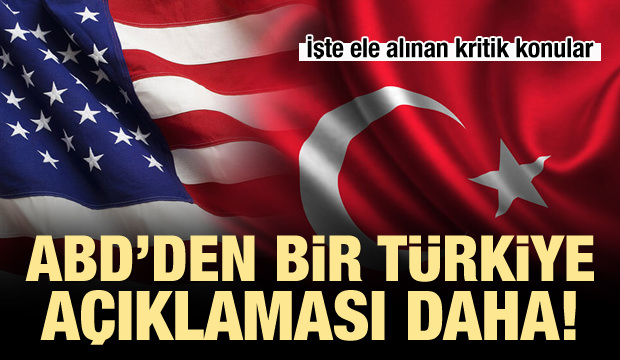 ABD'den İkinci Türkiye Açıklaması!