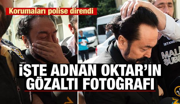 Adnan Oktar'ın gözaltındaki ilk fotoğrafı