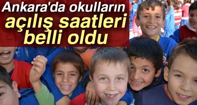 Ankara'da Okulların Açılış Saatleri Belli Oldu