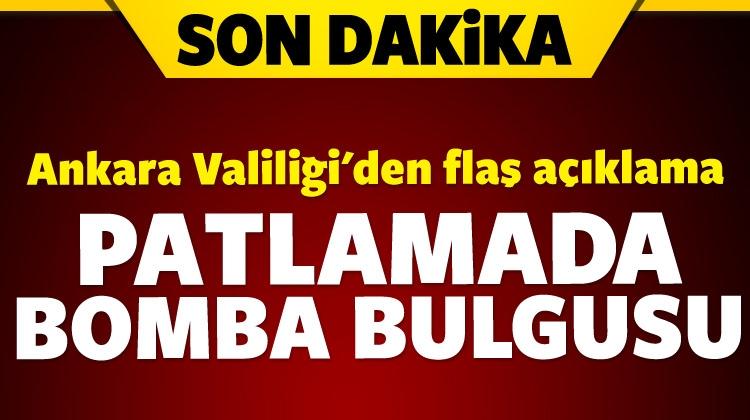 Ankara'daki patlamada bomba izi bulundu!