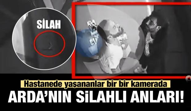Arda Turan'ın silahlı anları hastane kamerasında!