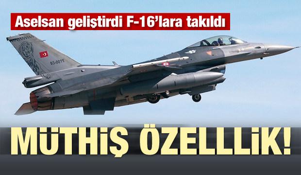 ASELSAN geliştirdi F-16'lara takıldı! Müthiş özellik