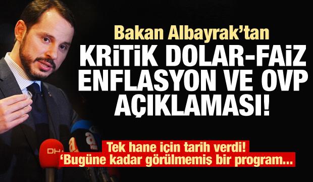Bakan Albayrak'tan kritik dolar açıklaması