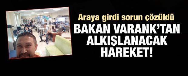 Bakan Varank'tan alkışlanacak hareket