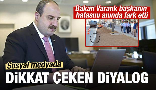 Bakan Varank'tan başkana anında uyarı