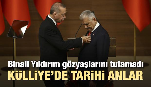 Başkan Erdoğan'dan Yıldırım'a şeref madalyası