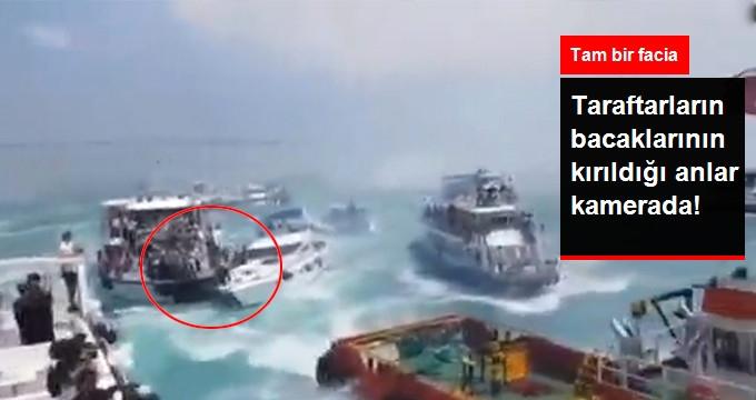 Beşiktaş'ın Kutlamasındaki Tekne Kazası Anı Kameralara Yansıdı