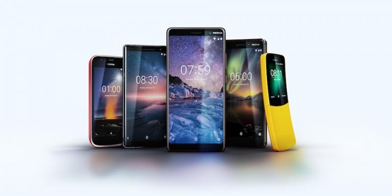 Bir Yerde: Nokia 8 Sirocco, Nokia 7 Plus, Nokia 6,Nokia 1, Nokia 8110
