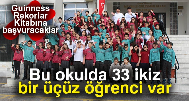 Bu Okulda 33 İkiz, Bir Üçüz Öğrenci Var...