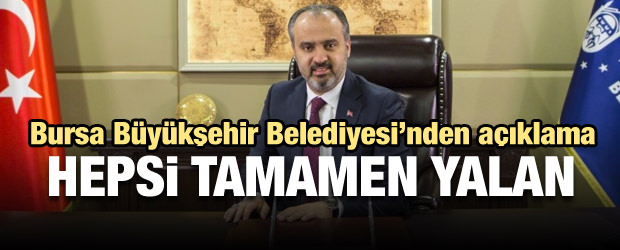 Bursa Büyükşehir Belediyesi'nden huzur hakkı yalanlaması