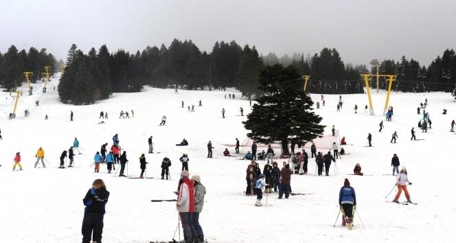 Bursa Uludağ'da Kar Kalınlığı 87 Santimetre