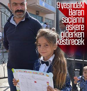 Bursa'da 9 yaşındaki Baran'ın saçları gündem oldu