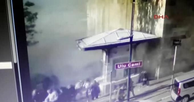 Bursa'da Kadın Canlı Bombanın Kendini Patlattığı An Kamerada