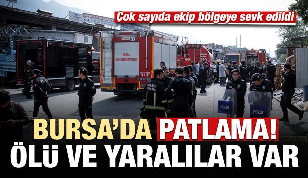 Bursa'da patlama: 3 kişi hayatını kaybetti, yaralılar var...