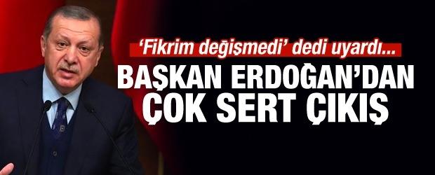 Cumhurbaşkanı Erdoğan'dan sert faiz çıkışı