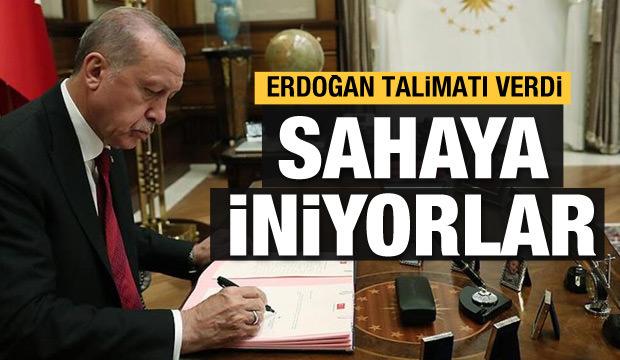 Cumhurbaşkanı Recep Tayyip Erdoğan talimat verdi, teşkilat sahaya iniyor