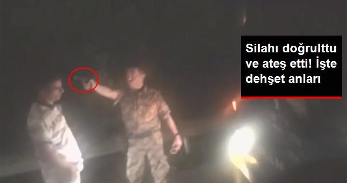 Darbeci Asker Otobüsün İlerlemesini Engelleyen Vatandaşı Böyle Vurdu