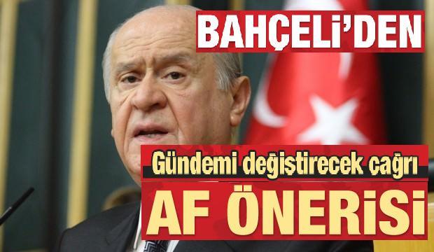 Devlet Bahçeli'den af önerisi!