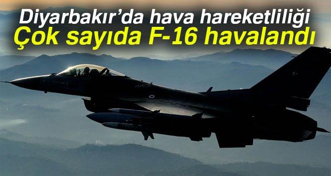 Diyarbakır'da hava hareketliliği: 8'inci Ana Jet Üssünden çok sayıda F-16 havalandı