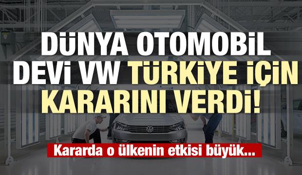 Dünya otomobil devi VW Türkiye için kararını verdi! Katar etkili oldu