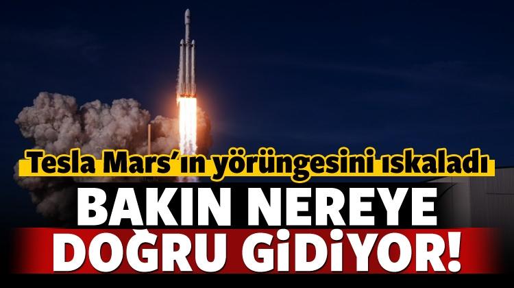 Elon Musk'ın Tesla'sı Mars Yörüngesini Iskaladı!