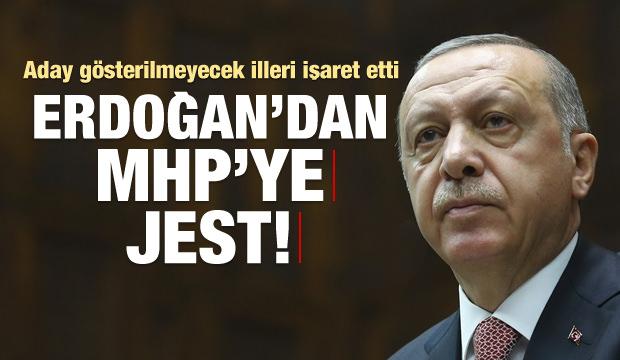 Erdoğan aday gösterilmeyecek illeri işaret etti