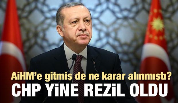 Erdoğan AİHM'e gitmiş de ne karar almış?