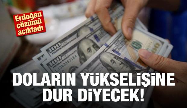 Erdoğan doların yükselişi için çözümü açıkladı