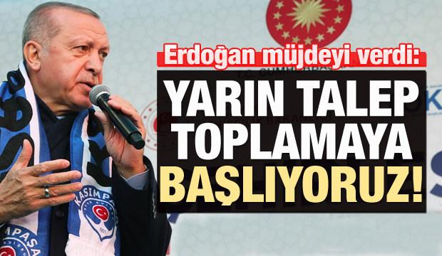 Erdoğan müjdeyi verdi: 388 lira taksitle konut!