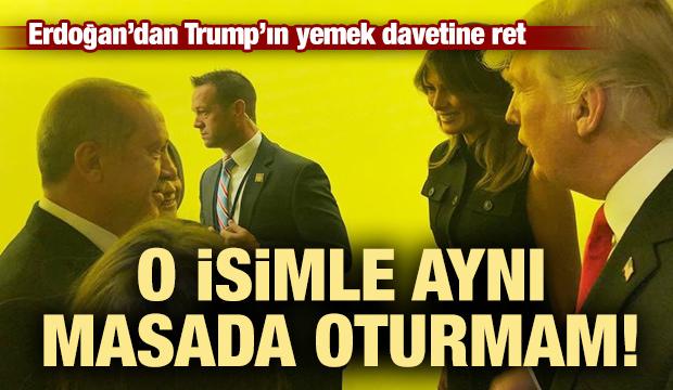 Erdoğan yemeğe neden katılmadığını açıkladı