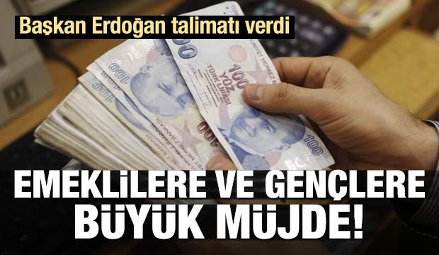 Erdoğan'dan emeklilere ve gençlere büyük müjde!
