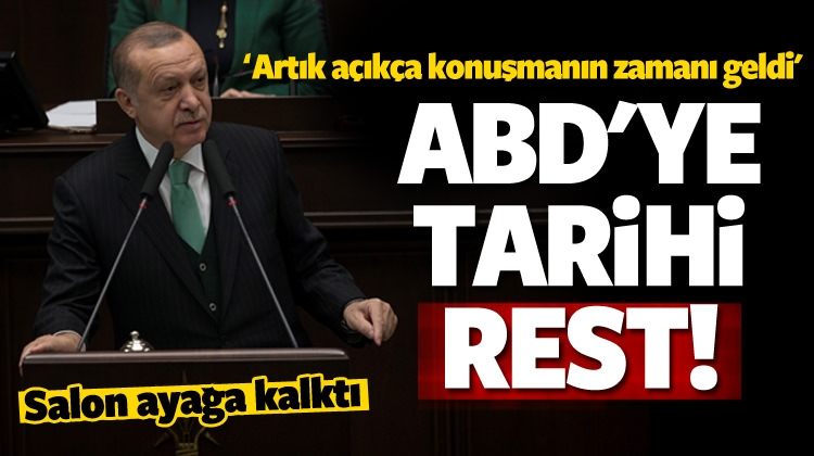 Erdoğan'dan tarihi rest! Salon ayakta alkışladı