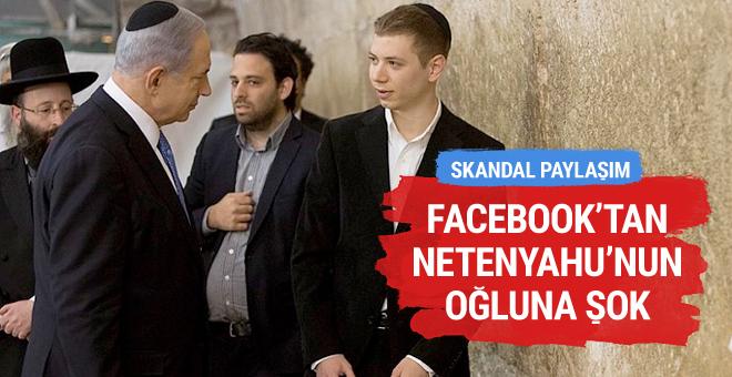 Facebook oğul Netanyahu'nun hesabını askıya aldı