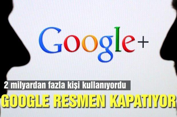 Google Plus güvenlik açığı nedeniyle kapanıyor