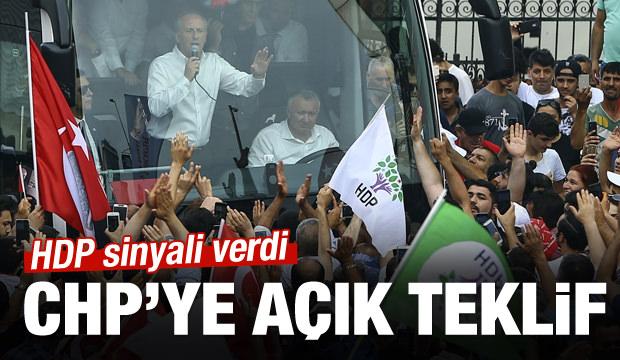 HDP sinyali verdi! CHP'ye açık teklif