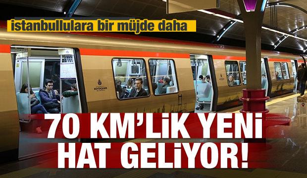 İstanbul'a 70 km'lik metro geliyor