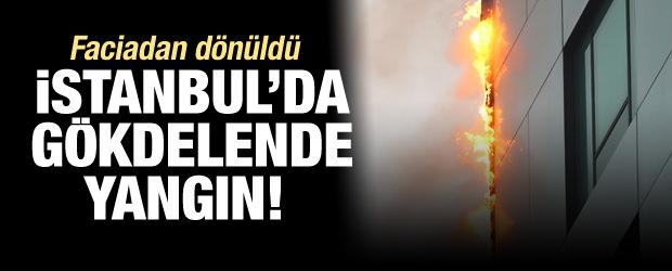 İstanbul'da gökdelen yangını!